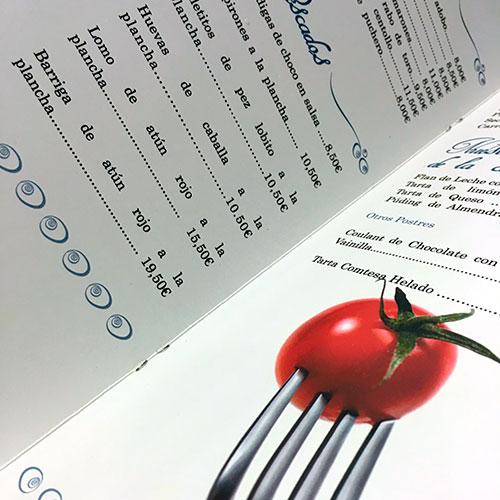 imprimir menús para restaurantes